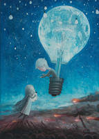 He Gave Me The Brightest Star II -oil painting by borda