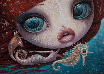 The Song of The Sea - oil painting by borda