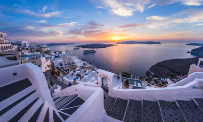 Sunset in Santorini by borda