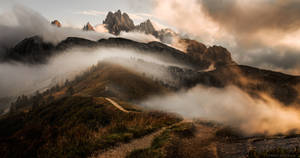 Rolling Clouds in Dolomites