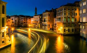 Silk road in Venice from San Marco bridge by borda