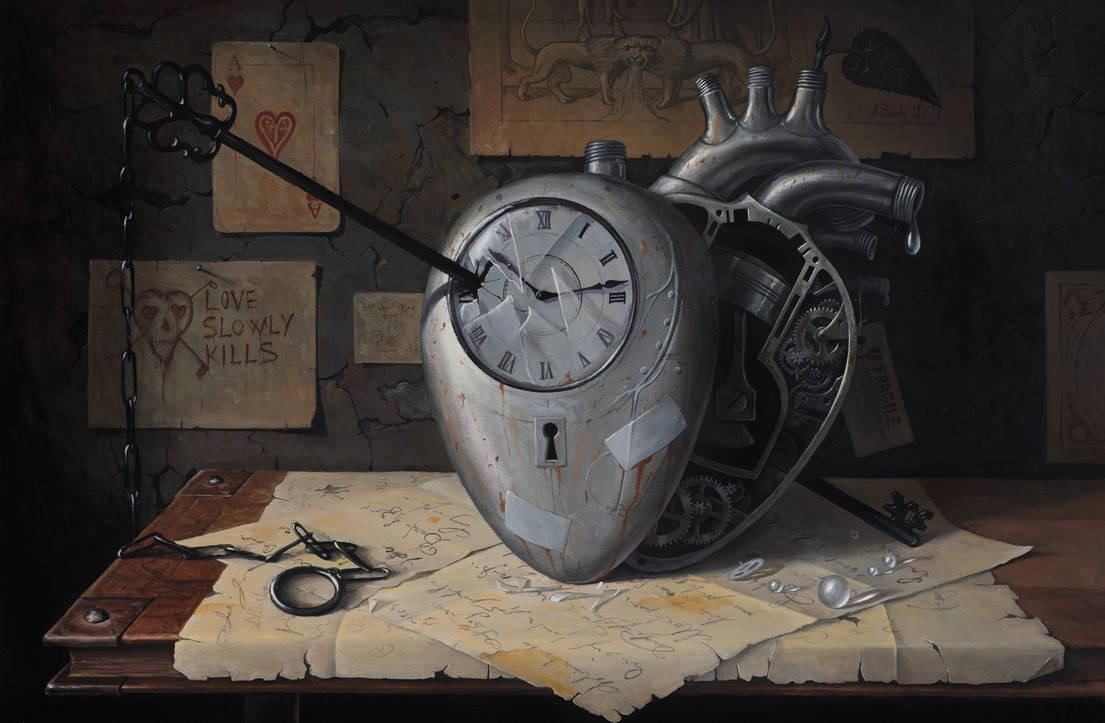 Love Slowly Kills VIII - oil painting by borda