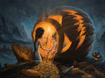 The Night We Scared all The Demons - oil painting by borda