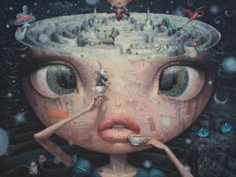 Alice in Wonderland - oil painting