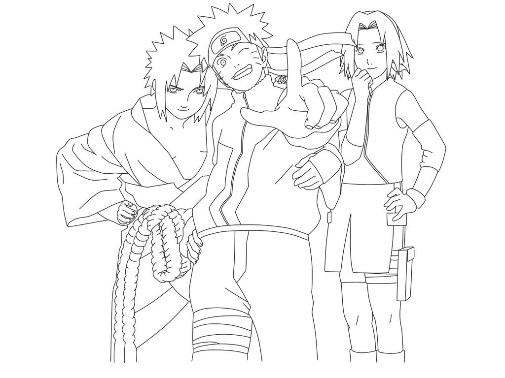 Naruto shippuden team 7 by jdmd 54 on deviantart for Coloring pages naruto shippuden