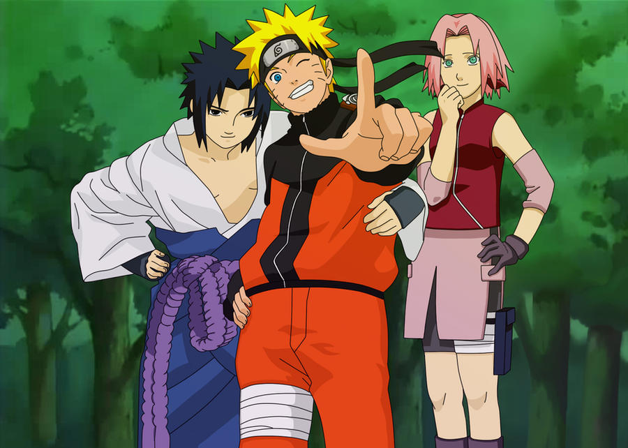 Naruto Shippuden  Team 7 Color by JDMD-54Naruto Shippuden Team 7 Assemble