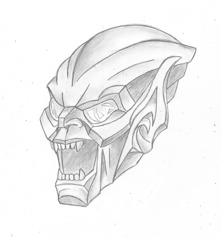 green goblin face coloring pages - photo#7