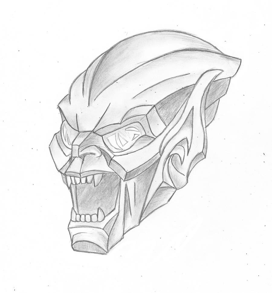 Green goblin by bass95 on deviantart for Green goblin coloring pages