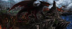 Dragons landscape by Vladimir-Olegovych