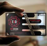 E D media Transparent Business Card