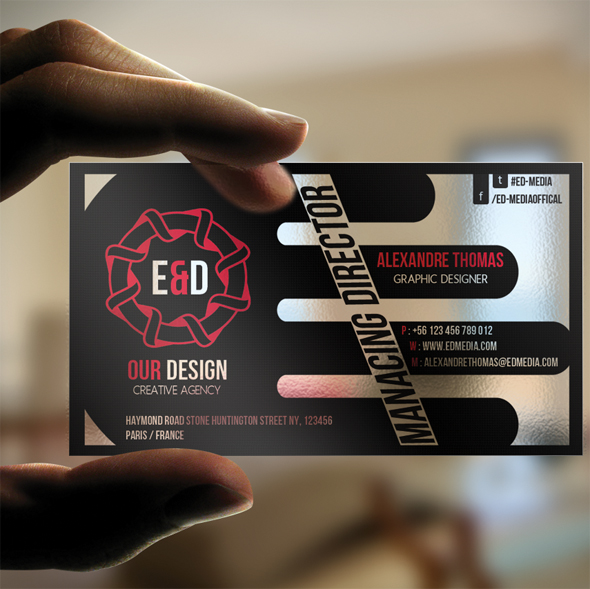 E D media Transparent Business Card by calwincalwin