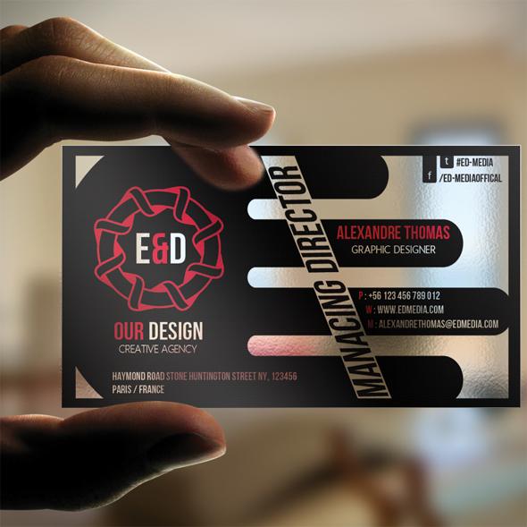 E D media Transparent Business Card by calwincalwin