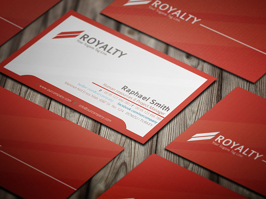 Royal Business Card by calwincalwin