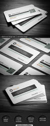 Pixelancer corporate business card by calwincalwin