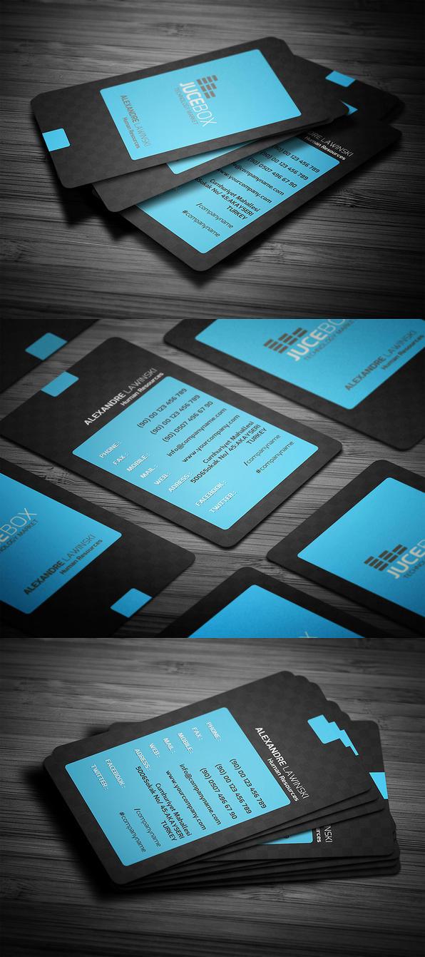 Blue Modern Business Card by calwincalwin
