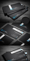 Black Corporate Business Card by calwincalwin