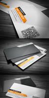 Orange Clean Corporate Business Card