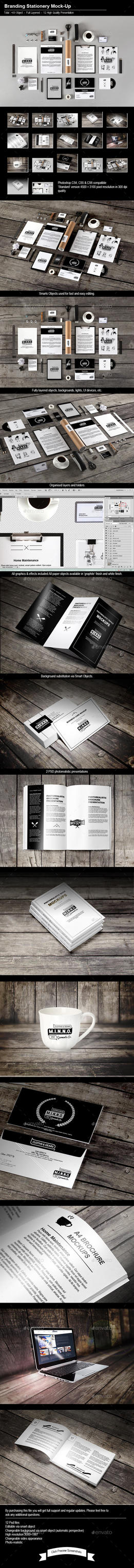 Stationery / Branding Mock-Up by calwincalwin