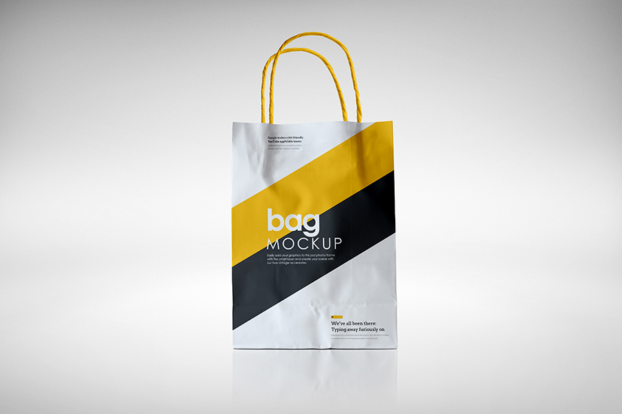 Free Paper Bag Mockup by calwincalwin
