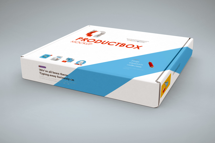 Free Hoziontal Box Cover Mockup by calwincalwin