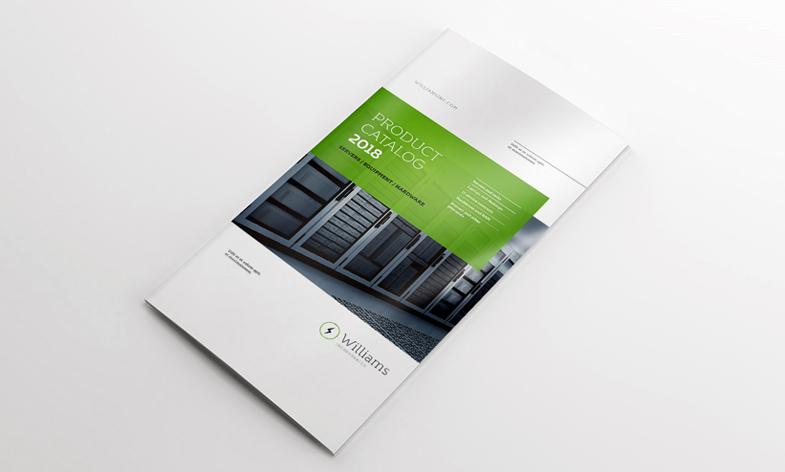 4xDL Double Gate Fold Brochure Mockup by calwincalwin