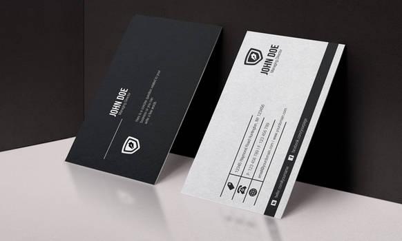 Free Black White Business Card vol. 2
