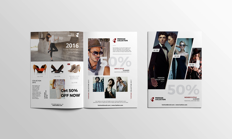 A4 Brochure Mockup Open - Cover by calwincalwin