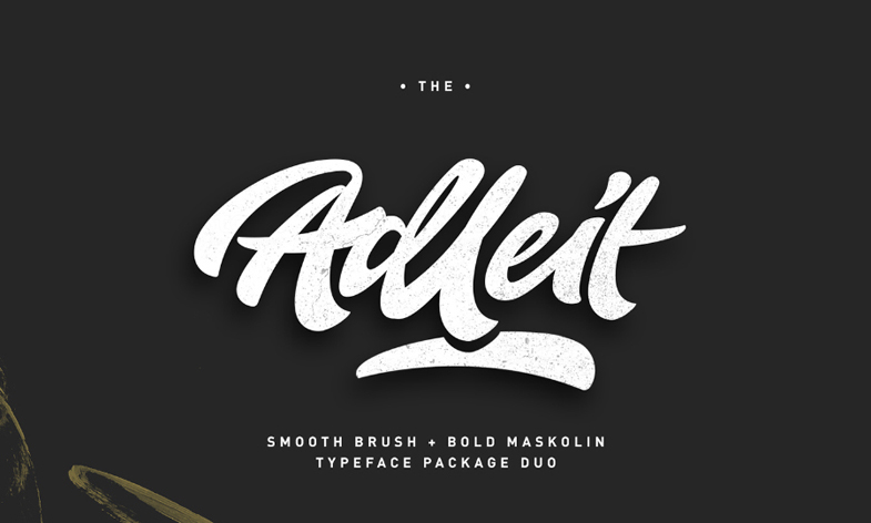 Free Aldeit Brush Script Free Demo by calwincalwin