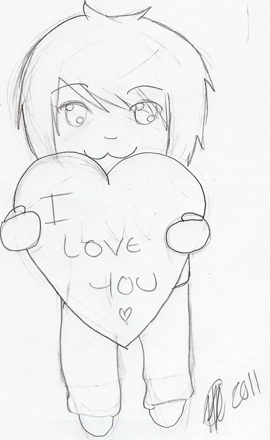 Love you sketch by XxDeadKenalaxX on DeviantArt