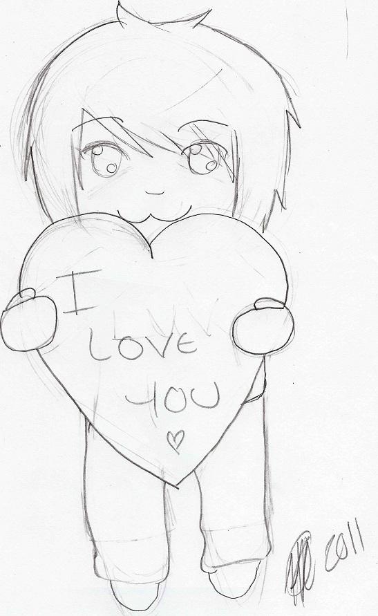 Love you sketch by XxDeadKenalaxX on DeviantArt