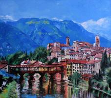 Ponte Vecchio ( Old Bridge), Bassano del Grappa by alistark91