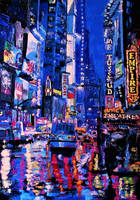 Times square at night by alistark91
