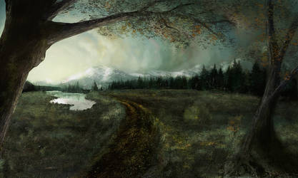 A bit of a Matte Painting by AfricAShoX
