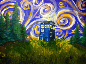 Vincent and the Tardis by PaintGuru24