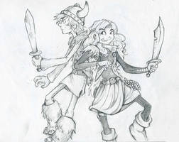 Hiccup and Camicazi by Crownflame