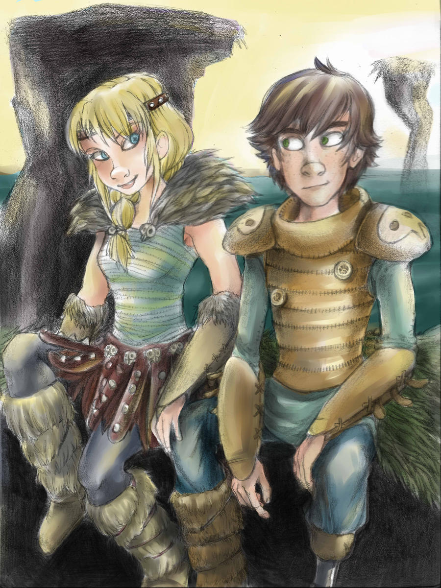 Hiccup and Astrid (HTTYD2 Concept) by Crownflame