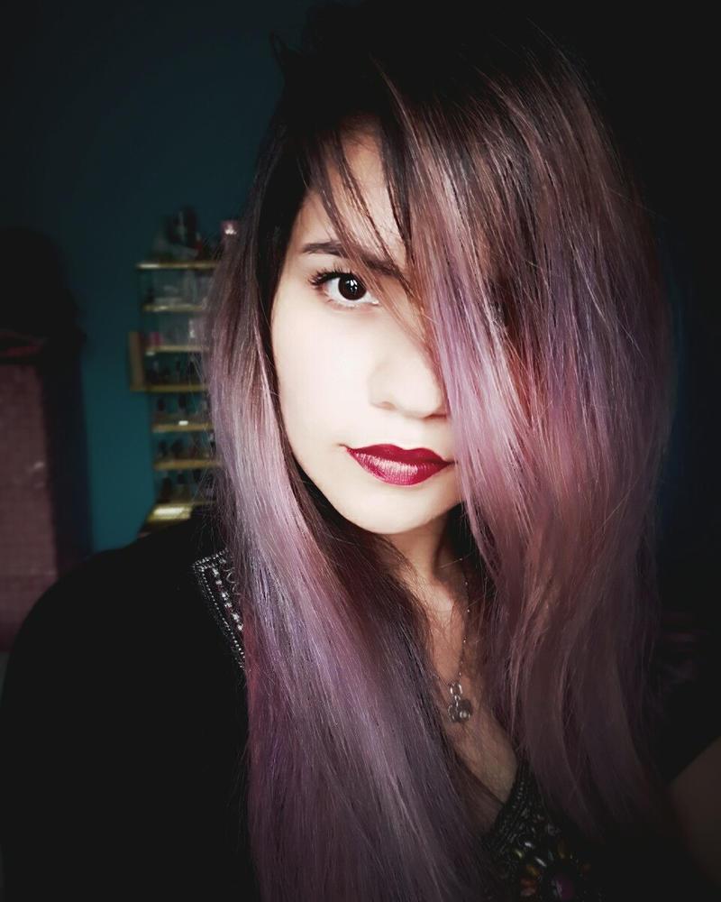 Lavender Hair  by AhomeChan