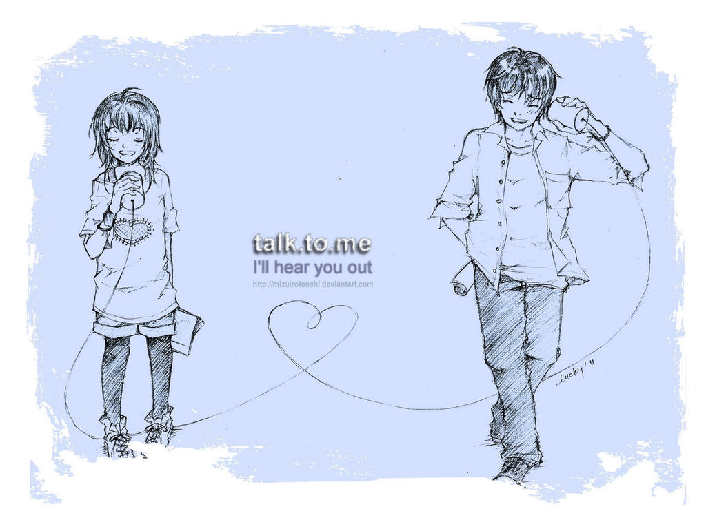 talk.to.me by mizuirotenshi