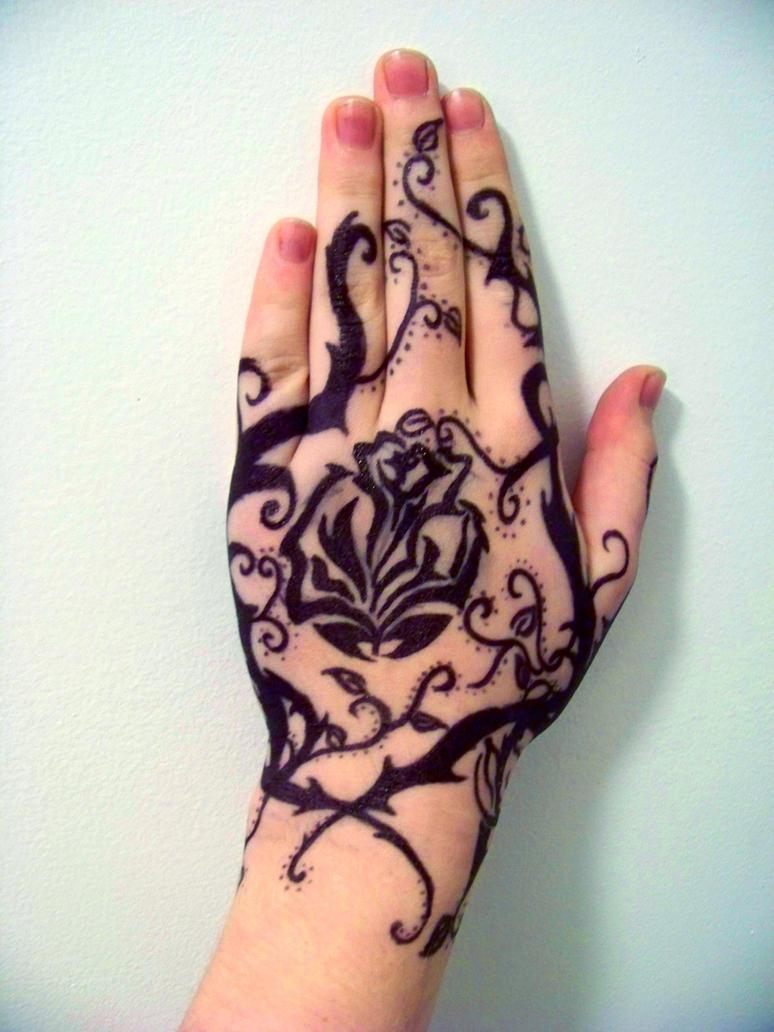 Sharpie rose black by xbloodredvalentinex on deviantart for Sharpie tattoo designs