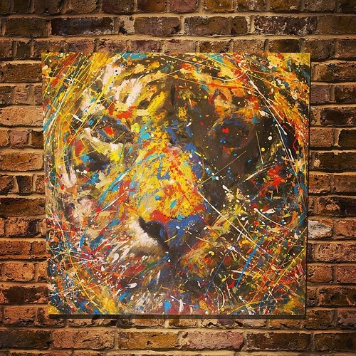 Spray Paint Art Tiger 2 Original By Colorpeoject On Deviantart