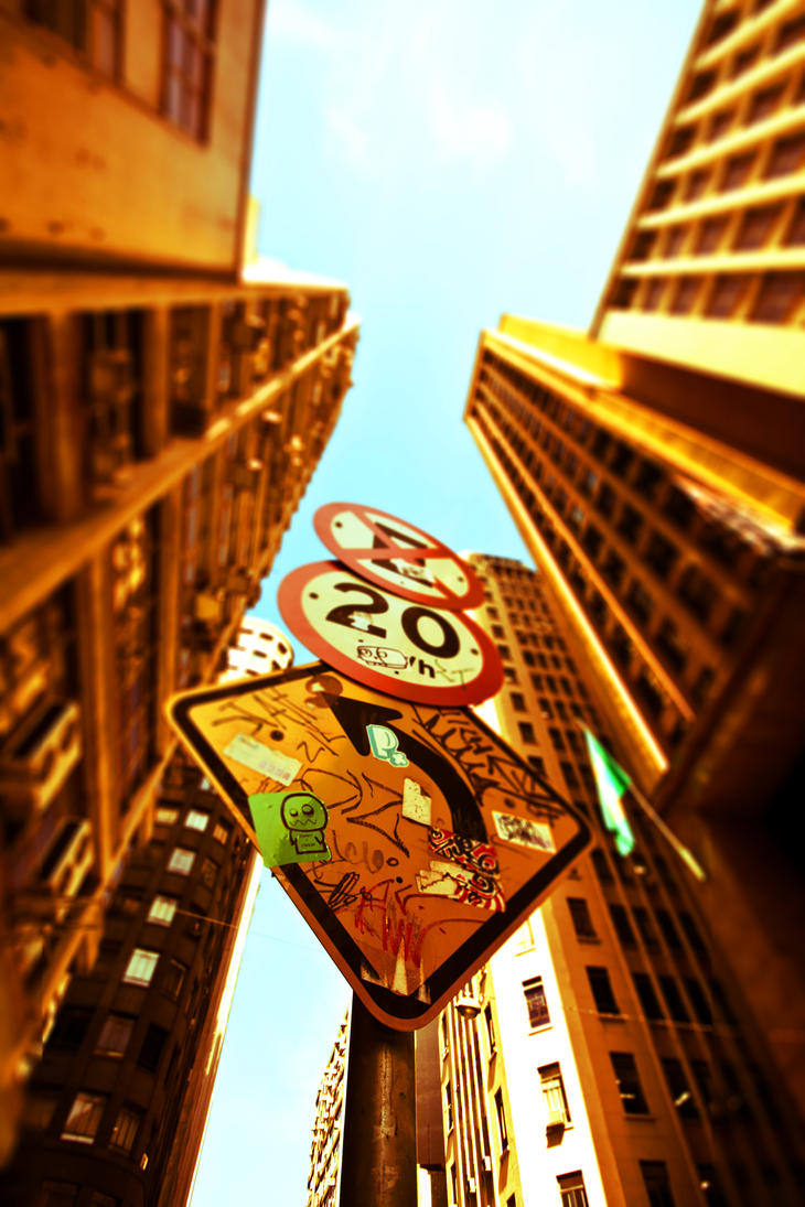 Sao Paulo Sign - tilt-shifted by infazz