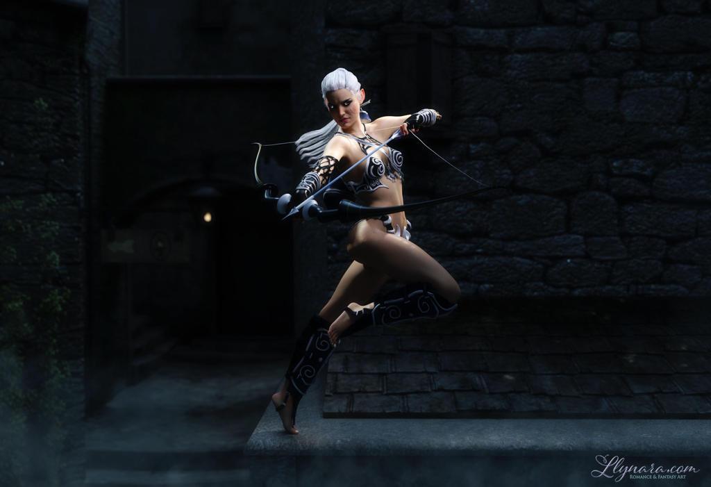 Silver Huntress by llynara