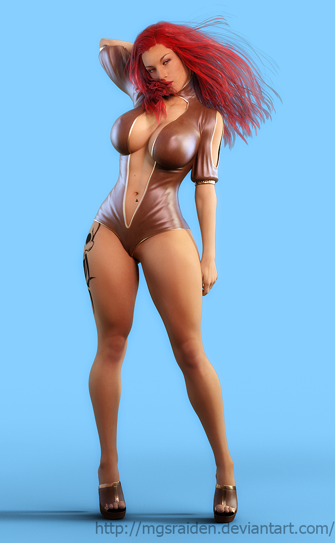 Lucy posing 5 by MGSRaiden