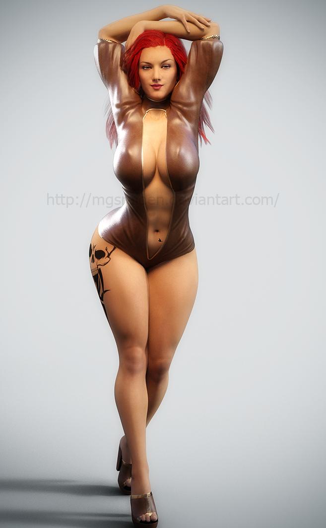 Lucy posing 6 by MGSRaiden