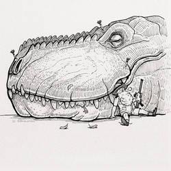 Tranquil T-Rex by dpereirart