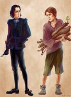 Young Vetinari and Vimes by ZarKir