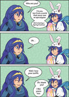 Fire Emblem Easter Event - Lucina meets Lucina by Mendrea