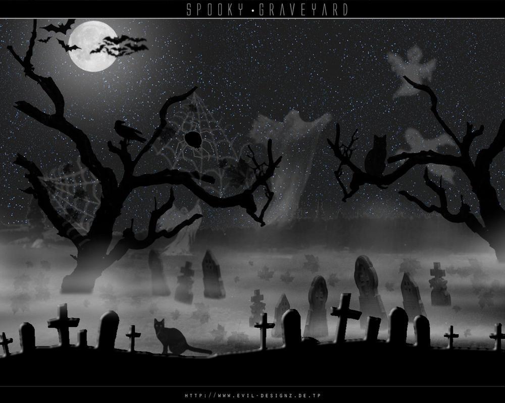 Spooky Graveyard by evildesignz on DeviantArt
