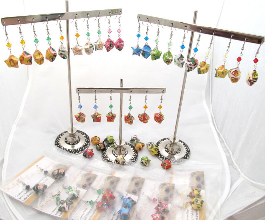 Ben 10 earrings by evilkillerpoptarts