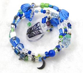 Decepticon OC Dreadmoon memory wire bracelet by evilkillerpoptarts
